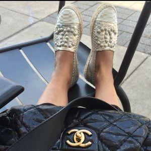 Chanel Espadrilles RARE Python